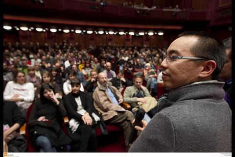 Apichatpong Weerasethakul at a screening of Uncle Boonmee Who Can Recall His Past Lives.